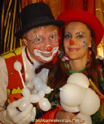 about clowns animation mariage